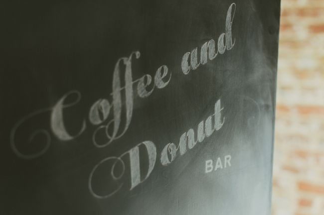 A rustic and glam coffee and donut bar bridal shower on Showerbelle.com