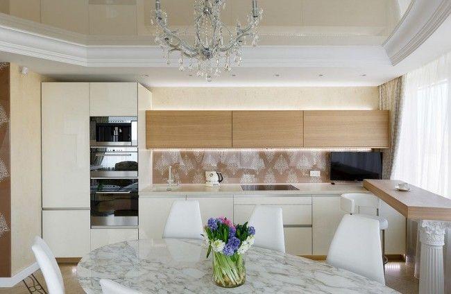 HappyModern.RU | 45 Идей фартука для кухни из стекла: новое слово в отделке кухонных поверхностей (фото) | http://happymodern.ru