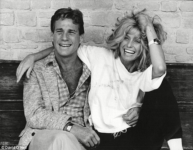 ryan o 39 neal farrah fawcett laugh til you cry pinterest