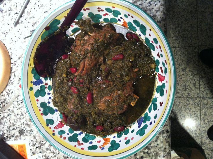 خورش قورمه سبزی Quormeh sabzee. Afghan food shares many dishes with persian food