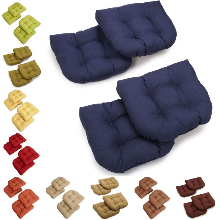blazing needles all weather u shaped tufted outdoor chair cushions set of 4