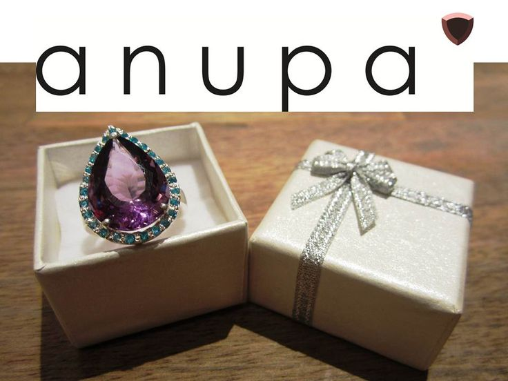 Purple ring amethyst stone. Sold at anupa.net
