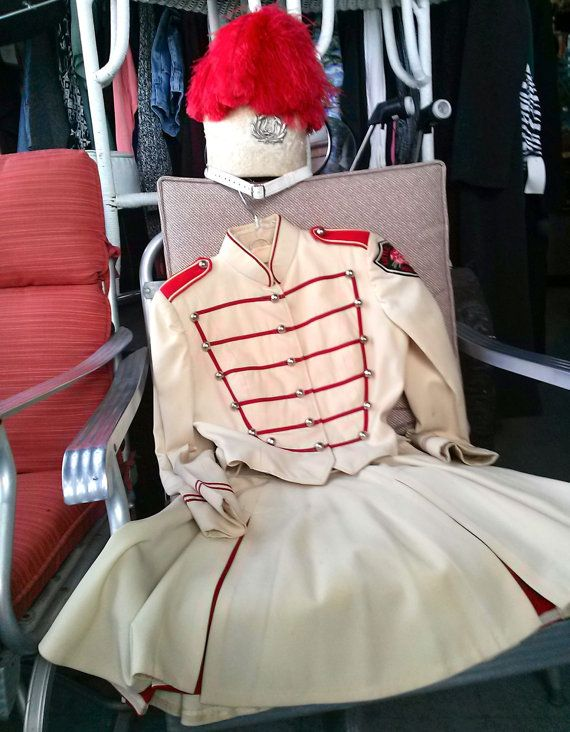 Vintage 1950s Marching Band Uniform Twirler by cinsfreshpicked, $325.00