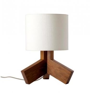 Wood Table Lamp - atari logo