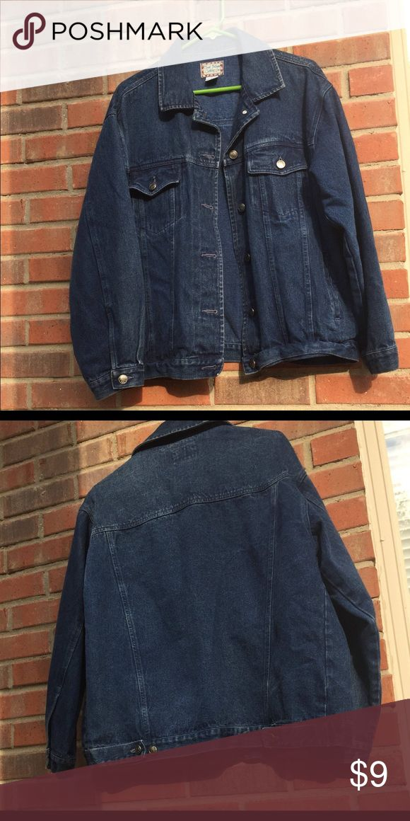 Good fellows clothing co large jean jacket Nice vintage condition, great staple piece Jackets & Coats Jean Jackets