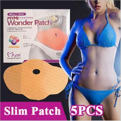No Pills No Diet Weight Loss Safety Belly Slim Patch Fat Burn HOT WONDER PATCH 15 Days Slimming Easy  1 BOX=5PCS