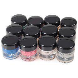Wholesale M2022 Long Lasting 12 Colors Waterproof Music Flower Gel Eyeliner Cream Eye Shadow Kit, Makeup Tools - rosewholesale.com