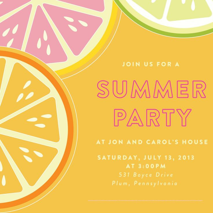Summer Party Invitations to give you inspiration in making party invitation wording 427