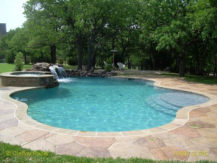 Color Of Flagstone And Concrete Coping More Uniform In Color Pool Pinterest Google