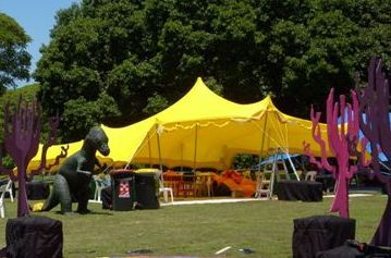 Kids party Tent or Marquee bright yellow!!