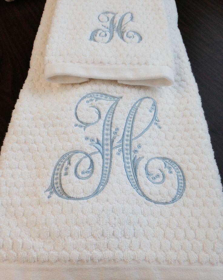 Embroidery fonts for towels makaroka