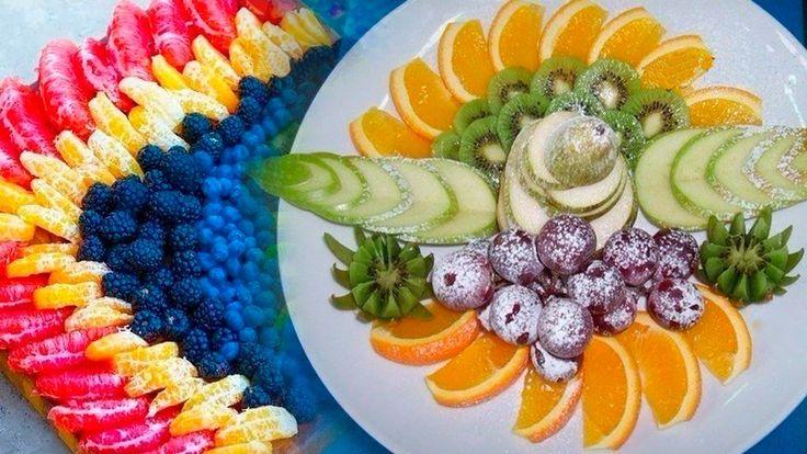 ☀Праздничное оформление фруктовой нарезки