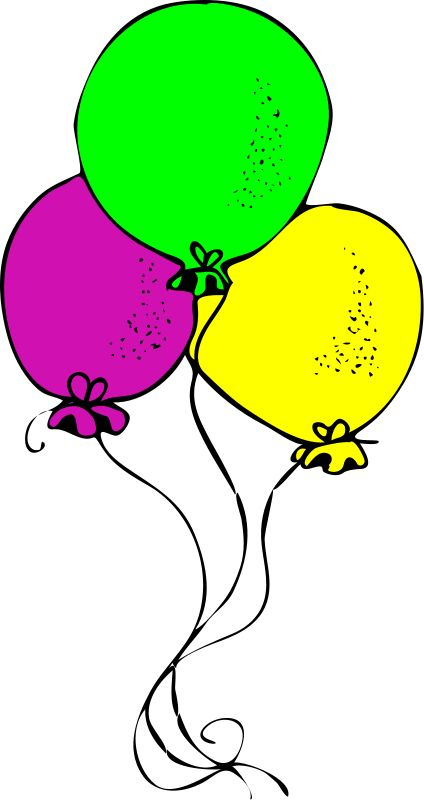 Free Picture Happy Birthday Balloons Black And White