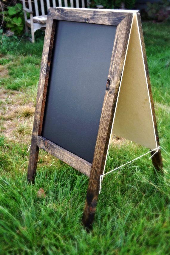 Double Sided Chalkboard 36x20 Rustic Chalkboard