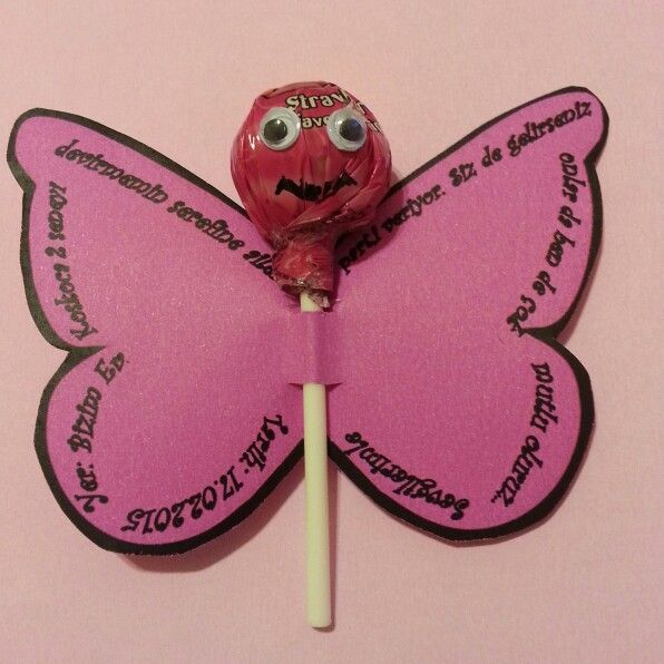 Doğum günü kelebek davetiye :)