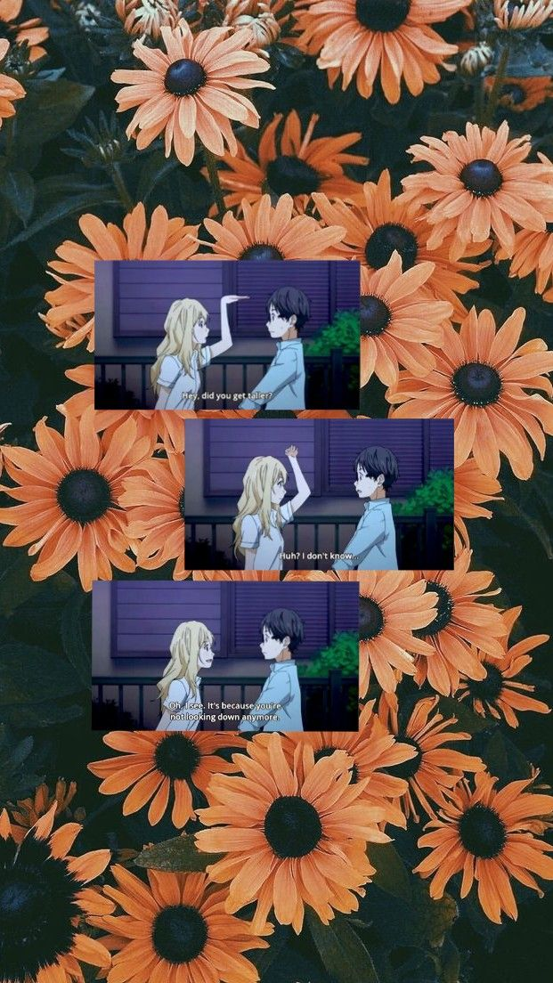 Your Lie In April Aesthetic Yellow Anime Your Lie In April Anime Wallpaper You Lied Anime wallpaper your lie in april