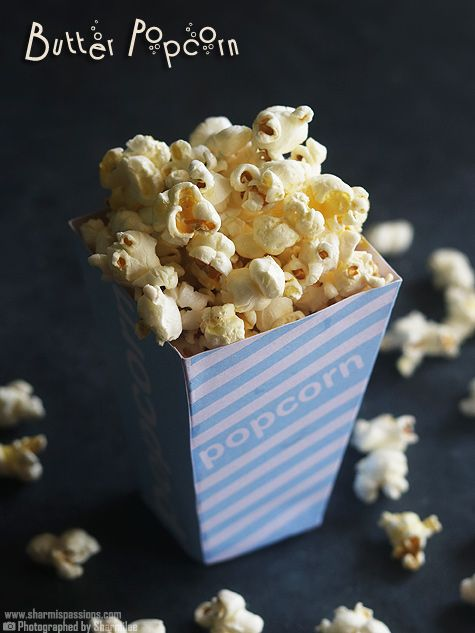 Butter popcorn recipe with step by step photos.If you are a fan of theatre style butter popcorn then this butter popcorn recipe is just for you.Salty buttery crunchy popcorns ready for movie time at home…What else?! I was searching for small popcorn tubs to click popcorn but couldn't find it so decided to make DIY...Read More »