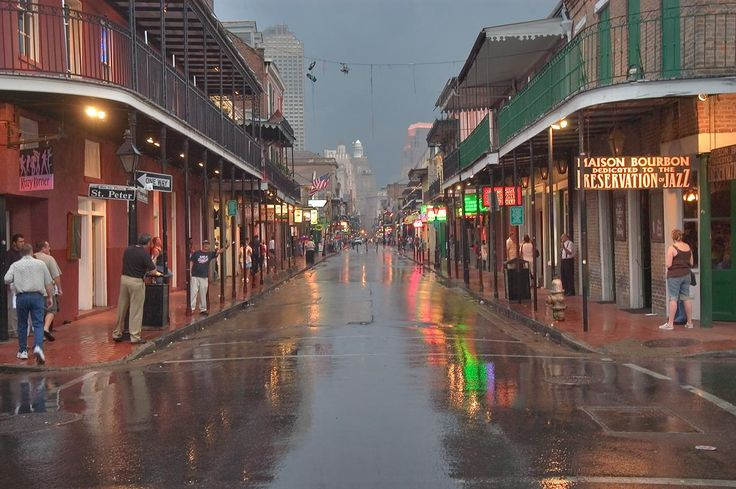 Beautiful picture of Bourbon Street in the rain.  One of my favorite vacation spots.