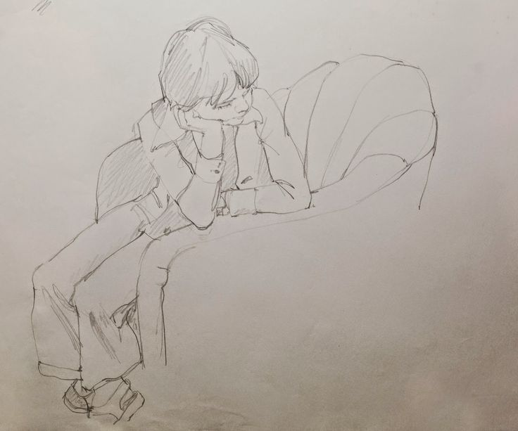 It is a picture of Old Fashioned Leaning Forward Pose Drawing