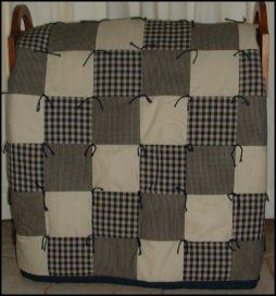 35 best Blankets-quilts images on Pinterest | Cushions, Diy stuff ... : quilt with yarn ties - Adamdwight.com