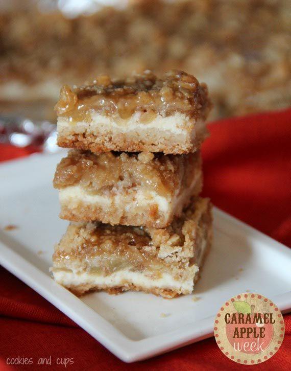 Caramel Apple Cheesecake Bars.