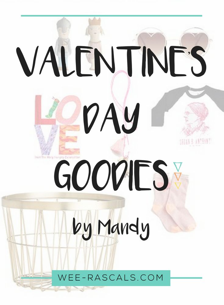 Hello again, Mandy here from the blog Mandy & Such sharing a few fun ideas for Valentine's Day. In the spirit of all things pink, I thought I'd put together a little round up of cute gifts for the kiddos. My husband and I aren't much for celebrating this one but we LOVE doing fun things for our children to make them feel extra special and adored on this day. After all, holidays and special occasions are just so much better with kids.