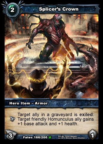 New Hero Armor in Shadow Era TCG expansion: Splicer's Crown