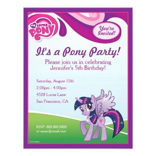 My Little Pony Twilight Sparkle Birthday Party Announcement