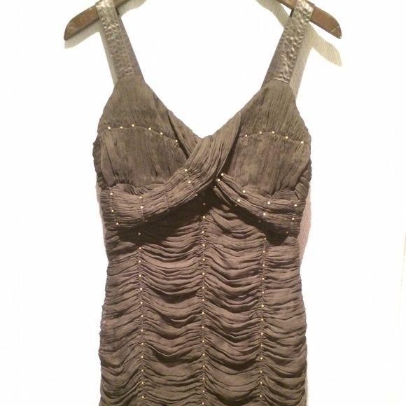 Catherine Malandrino Silk dress Silk shirred evening dress with flat nailhead grommet details, worn once Catherine Malandrino Dresses