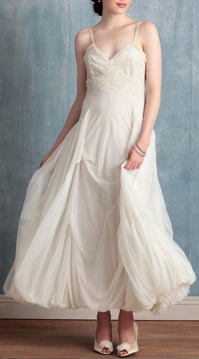 white flowy dress, spaghetti straps