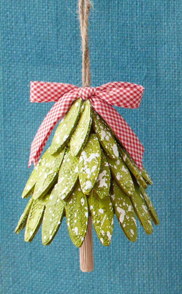 Wood Biscuit Tree Ornament DIY