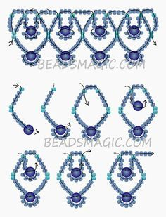 Free pattern for necklace Blue Sky   Beads Magic - 2