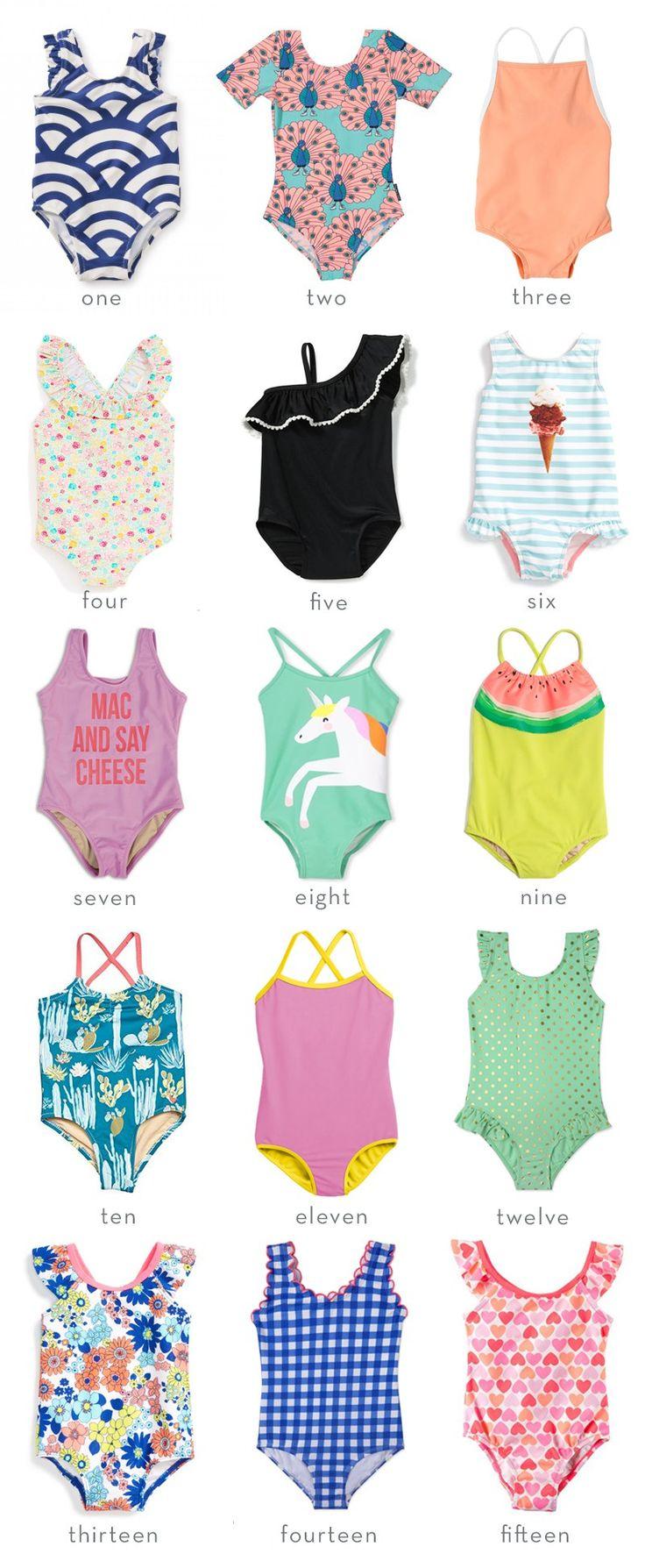 Fifteen Swimsuits for Girls   Thrifty Littles