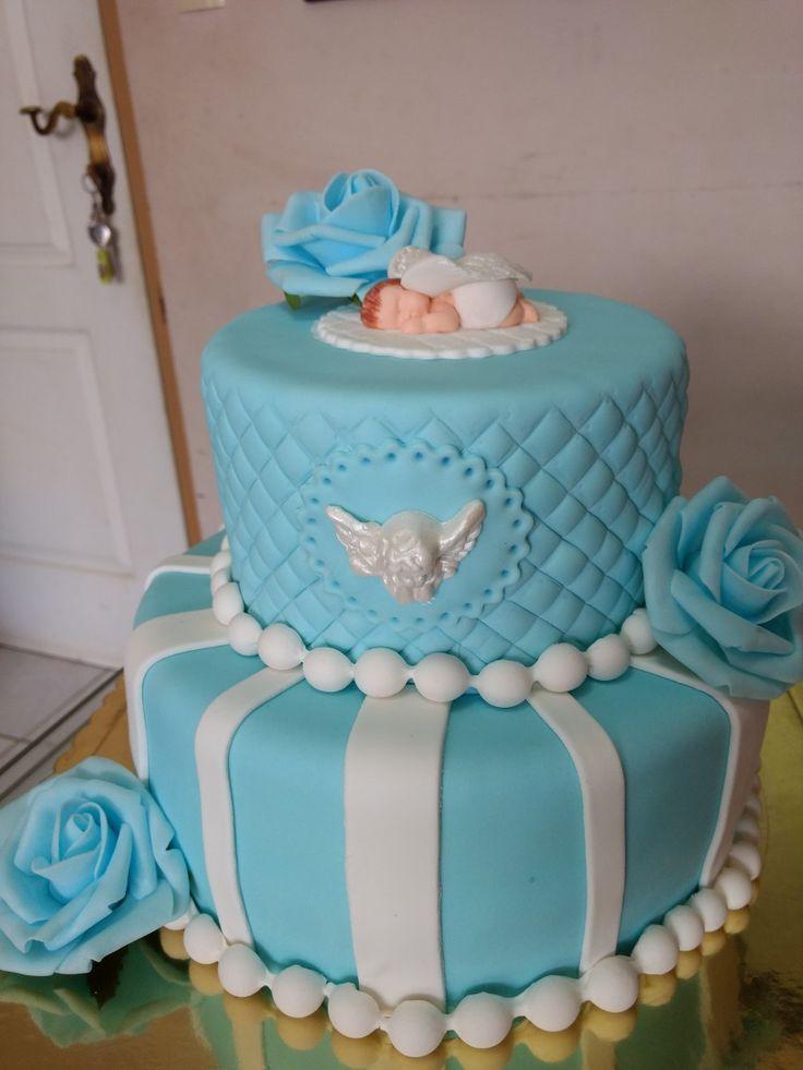 Torta Ángel bautizo