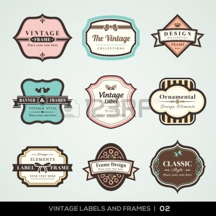 vector set of calligraphic vintage labels and frames design elements stock vector