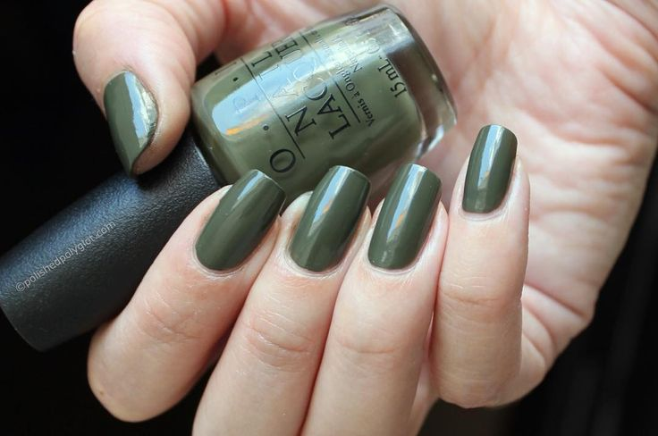 Isn't this Khaki green just perfect?http://bit.ly/2a87D2d the whole #opiwashingtondc collection swatches and review on the blog today!  #chic #Fall2016 #upcoming #swatches #review #nailswag #nails2inspire #nailsofinstagram #nailstagram #swissblogger #swissbeautyblogger #bloggersuisse #blogbeautesuisse #nailblogger #nailpolish #khaki #green