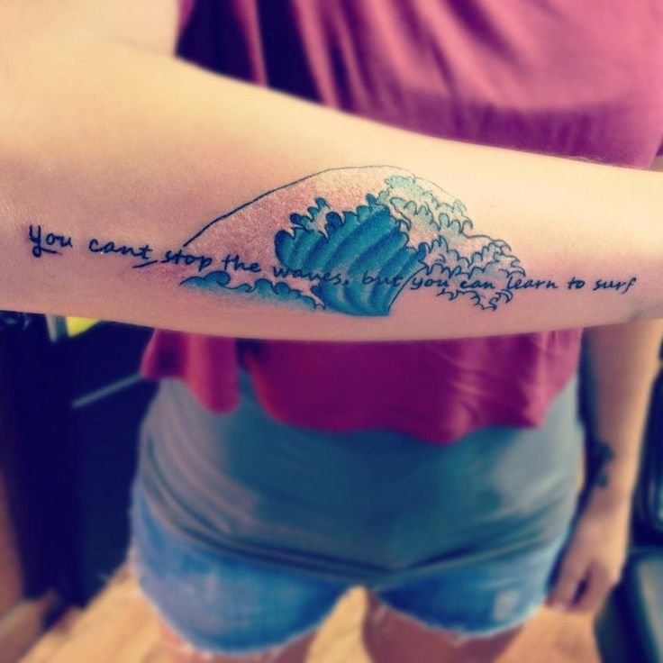 You can 39 t stop the waves but you can learn to surf one for Learn to do tattoos