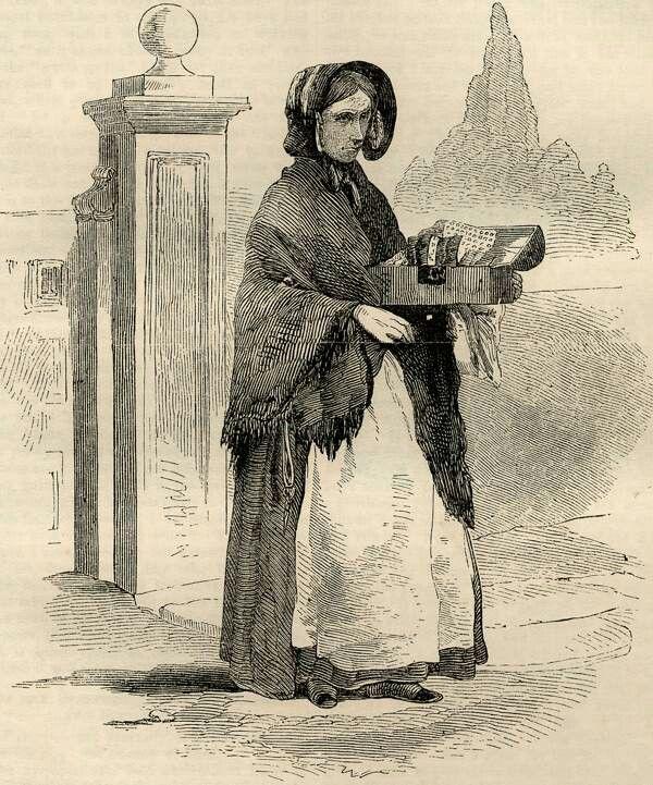 Street seller of combs