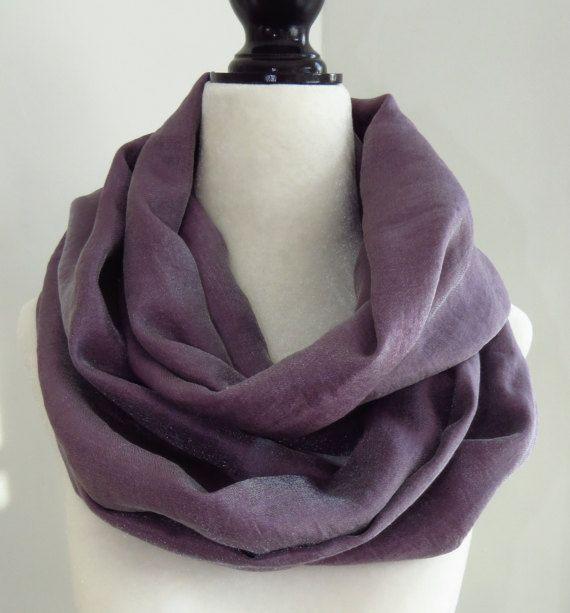 Handmade Purple infinity scarf purple scarf by MelyndaSwan on Etsy