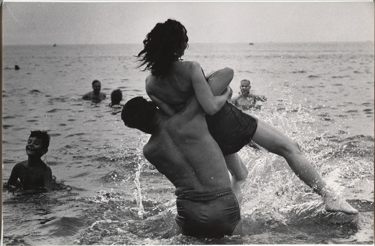 "Garry Winogrand (American, 1928–1984). Coney Island, New York, c. 1952. Gelatin silver print. The Museum of Modern Art, New York. Purchase and gift of Barbara Schwartz in memory of Eugene M. Schwartz. © The Estate of Garry Winogrand, courtesy Fraenkel Gallery, San Francisco. All rights reserved. | This photograph is featured in ""Garry Winogrand,"" on view through September 21, 2014. #newyork #nyc"