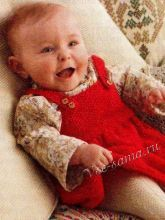 Красный сарафан для малышки, фото