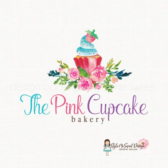 cupcake logo design bakery logo design by stylemesweetdesign