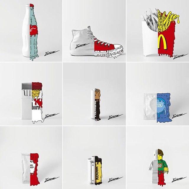 Arte Creativo y Diseño #CreativoDisponible  #CocaCola #Converse #Mcdonalds #Marlboro #Duracell #Durex #Heinz #Kodak #Lego