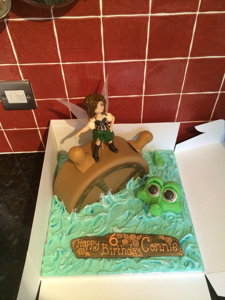 My favourite cake I've made to date! Pirate fairy cake :)