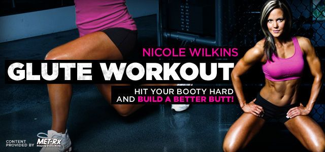 Bodybuilding.com - Athlete Workouts Inside The Gym: Nicole Wilkins Glute Workout