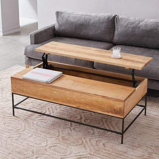 West Elm Industrial Storage Pop Up Coffee Table Large Coffee Table Coffee Table Design Coffee Table With Storage