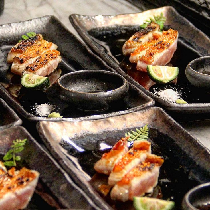 If you enjoy a high-end Japanese tasting menu,Shuraku NYCis the place for you! With the finest seafood, meats and poultry from around the world, they prepare it all on their binchotan grill.