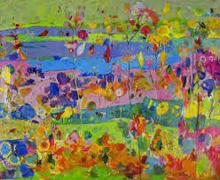 Łąka, Beata Wąsowska #art  #womensart #polishart #malarstwo #malarstwoPolskie #krajobraz #malarstwoKobiet