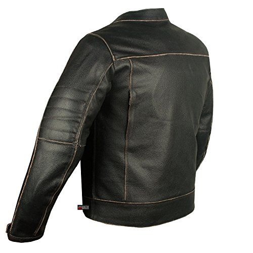 e35951d53 Men's Vintage Motorcycle Cruiser Armor Ventilated Leather Touring ...