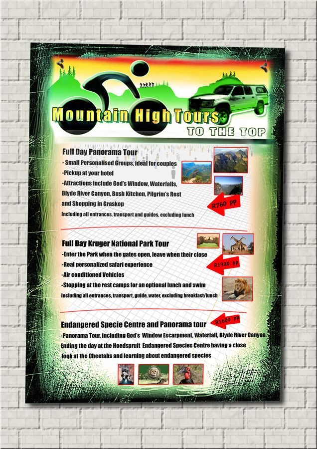 Flyers printing and design.